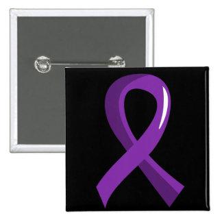Crohn's Disease Purple Ribbon 3 15 Cm Square Badge