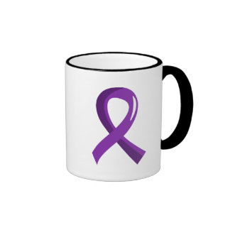 Crohn's Disease Purple Ribbon 3 Coffee Mugs