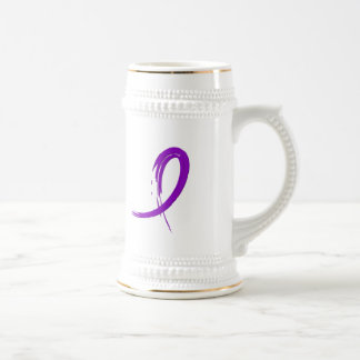 Crohn's Disease Purple Ribbon A4 Coffee Mug