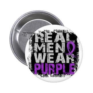 Crohn's Disease Real Men Wear Purple 6 Cm Round Badge