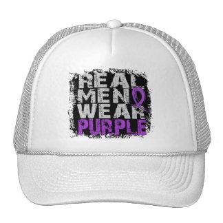 Crohn's Disease Real Men Wear Purple Mesh Hat