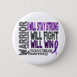 Crohn's Disease Warrior 6 Cm Round Badge