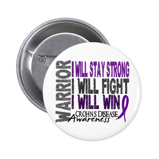 Crohn's Disease Warrior Button