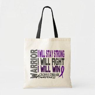 Crohn's Disease Warrior Budget Tote Bag