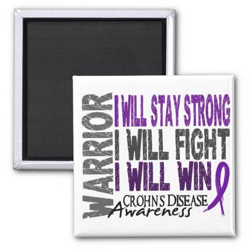 Crohn's Disease Warrior Fridge Magnets