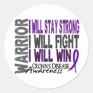 Crohn's Disease Warrior Round Sticker