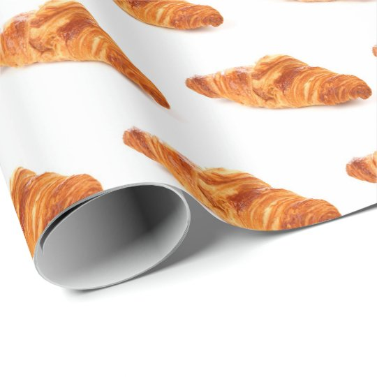 Croissant Wrapping Paper, French Food gift roll Wrapping