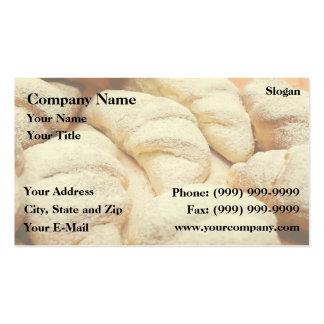 Croissants Business Card Template