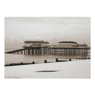 Cromer In Winter. Poster