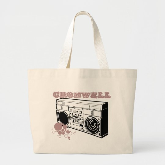 Cromwell Boombox logo Large Tote Bag