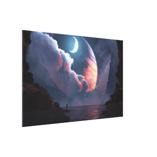 Cronus Rising Stretched Canvas Prints