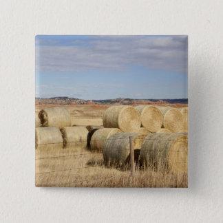 Crook County, Hay Bales 2 15 Cm Square Badge