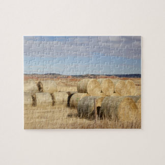 Crook County, Hay Bales 2 Jigsaw Puzzle