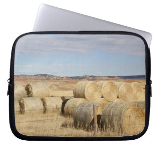 Crook County, Hay Bales 2 Laptop Sleeve