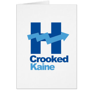 Crooked Hillary and Tim Kaine 2016 - Greeting Card