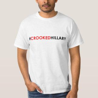 Crooked Hillary T-Shirt #CROOKEDHILLARY
