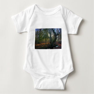 Crooked Tree and River Baby Bodysuit