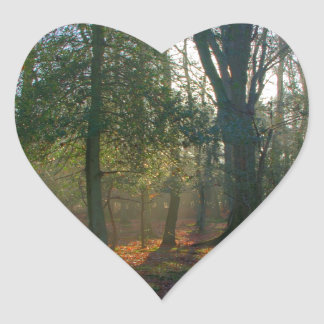 Crooked Tree and River Heart Sticker