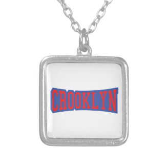 CROOKLYN, NYC SILVER PLATED NECKLACE