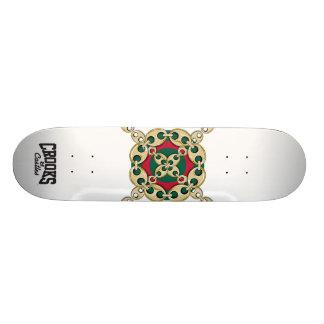 Crooks & Castles Bulls Eye Link (White) Skate Boards