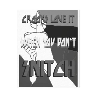 Crooks Love It Wrapped Canvas Stretched Canvas Print