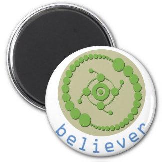 Crop Circle Believer 6 Cm Round Magnet