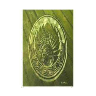 CROP CIRCLE CANVAS DMT SPIRITUAL GRAFFITI GALLERY WRAPPED CANVAS