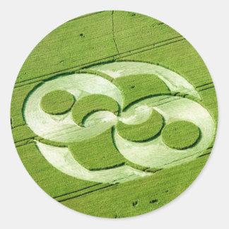 Crop Circle Julia Set Liddington Castle 1996 Round Sticker