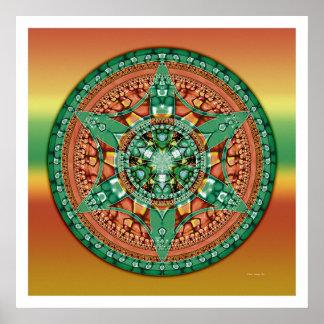 Crop Circle Mandala 2 Poster