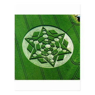 Crop Circle Spinning Star Wiltshire Postcard