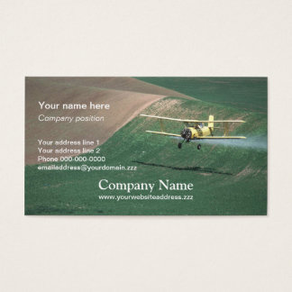 Crop duster business card