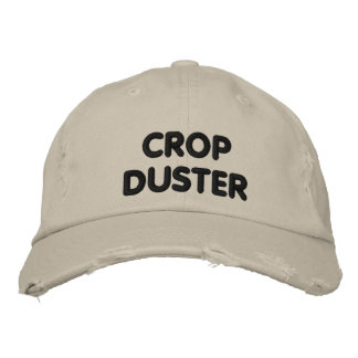 Crop Duster - funny running Embroidered Baseball Caps