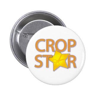 Crop Star Pinback Buttons