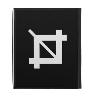 Crop Tool Pictogram iPad Caseable Folio iPad Folio Covers