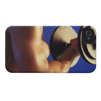 Cropped shot of man lifting weights iPhone 4 cases