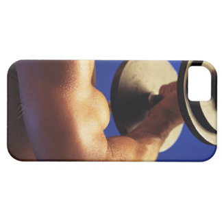 Cropped shot of man lifting weights case for the iPhone 5