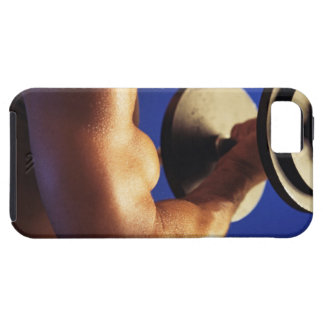 Cropped shot of man lifting weights iPhone 5 case