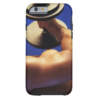 Cropped shot of man lifting weights tough iPhone 6 case