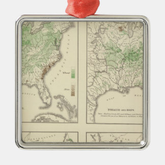 Crops, Statistical US Lithograph Christmas Ornament