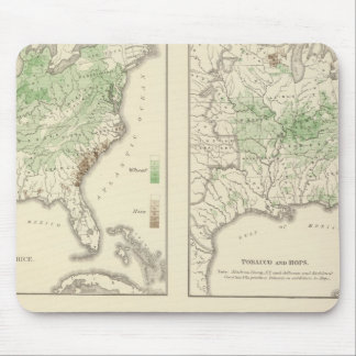 Crops, Statistical US Lithograph Mouse Pad