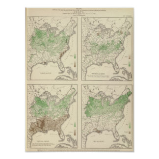 Crops, Statistical US Lithograph Poster