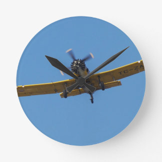 Cropsprayer Airplane Round Clock