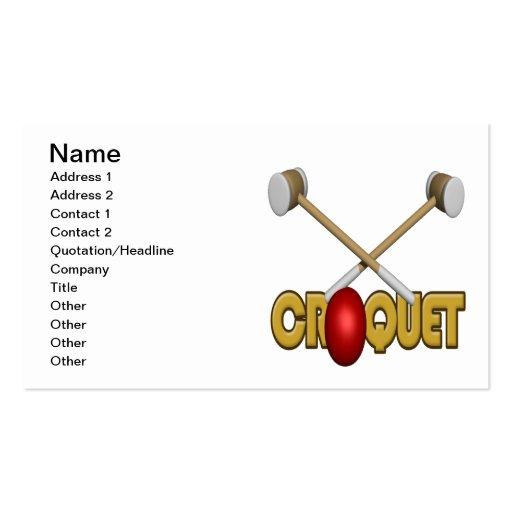 Croquet 3 business card