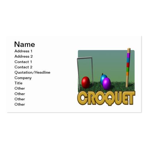Croquet 5 business card templates