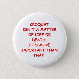 croquet 6 cm round badge