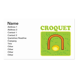 Croquet 6 pack of standard business cards