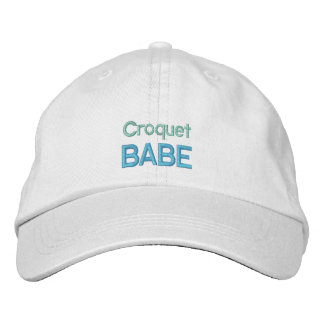 CROQUET BABE cap Embroidered Hat