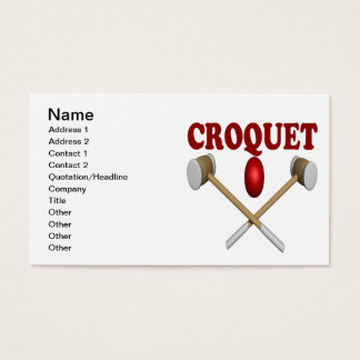 Croquet Business Card