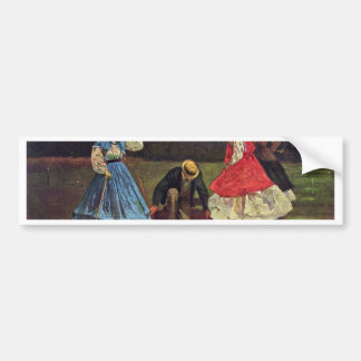 Croquet By Homer Winslow Best Quality Bumper Stickers