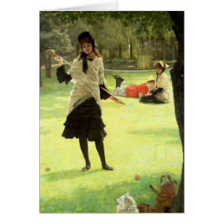 Croquet, c.1878 card